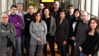 L'equip que té cura del control i l'actualització de continguts dels webs del Grup. ANDREU PUIG