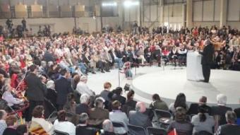 Zapatero va fer costat a Montilla a Lleida en la segona visita a Catalunya durant la campanya REDACCIÓ