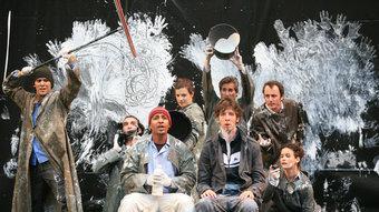 Els protagonistes de 'Littoral', la peça que presenta avui Wajdi Mouawad al Teatre Municipal. J.L. FERNÁNDEZ