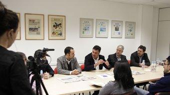 Joan Puigcercós a la sala del consell de redacció ROBERT RAMOS
