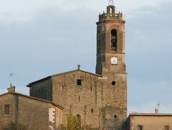 L'església parroquial de Colomers, amb el seu campanar. JOAN SABATER