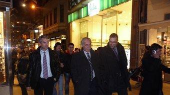 Joan Carretero va passejar ahir pel carrer Major de Lleida D.M
