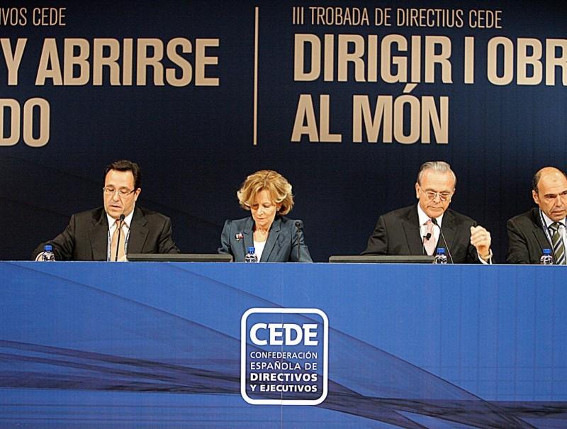 Trobada de directius i executius a Girona, el novembre del 2010.
