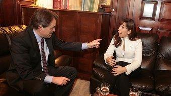 Artur Mas i Alícia Sánchez-Camacho durant la reunió JOSEP LOSADA