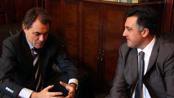 Artur Mas i Joan Puigcercós s'han reunit aquest dijous PATRICIA MATEOS
