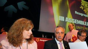 Joan Carretero, al juliol amb la candidata per Barcelona i mà dreta des dels temps en què militaven a Esquerra, Rut Carandell PERE VIRGILI