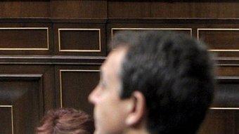 Zapatero en la sessió de control al govern central dimecres al Congrés dels Diputats JUANJO MARTIN / EFE