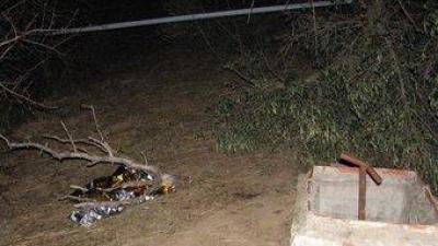 El lloc on va ser trobat mort Esteve Muret, suposadament mort a cops de pedra. ACN