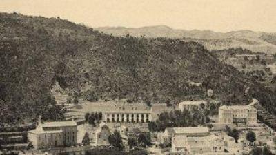 Vista de Fontilles al final de la dècada de 1920. ARXIU