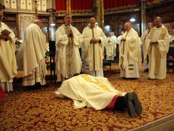 El nou bisbe de Solsona, Xavier Novell, ahir, en un moment de la cerimònia ACN