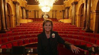 La presidenta del Parlament, Núria de Gispert, ahir a la seu del legislatiu català O. DURAN