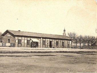 L'estació de Figueres en una de les imatges més antigues. AMF