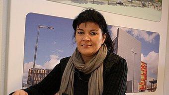Sylvia Pena, a les oficines de la representació rossellonesa a Girona. MANEL LLADÓ