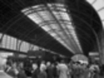 La celebració dels cent anys del primer tren a Portbou, el 22 de gener del 1978. CRDI GIRONA