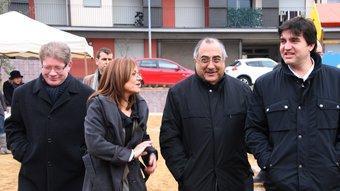 Joaquim Nadal ahir a Palafrugell, amb l'alcalde de la localitat, Sergi Sabrià ACN
