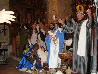 Durant la representació donada a Forques el passat 11 de desembre.  Bernat Bourges