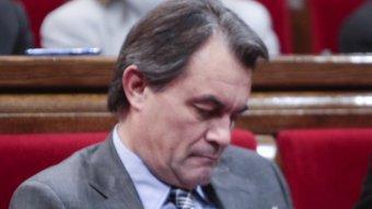 Artur Mas, nou president de la Generalitat, durant el debat d'investidura d'aquesta setmana ROBERT RAMOS / ARXIU
