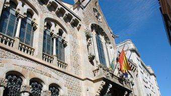 Antiga seu de la Caixa de Pensions per a la Vellesa i d'Estalvis de Catalunya i Balears, nascuda el 1904.  ARXIU