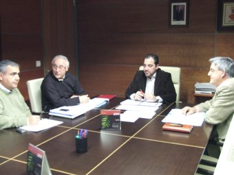 Reunió dels síndics polítics de l'Ajuntament de Calp. CEDIDA