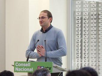El secretari general d'ICV, Joan Herrera, en un consell nacional recent MARTA PÉREZ