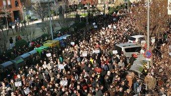 Imatge de la manifestació de dissabte passat a Salt MANEL LLADÓ