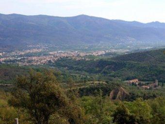 Vista de Codalet i Prada des de la capella de Sant Joan.