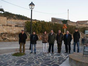 El president de la Diputació de Lleida durant la signatura del replanteig del projecte. D. DE LLEIDA