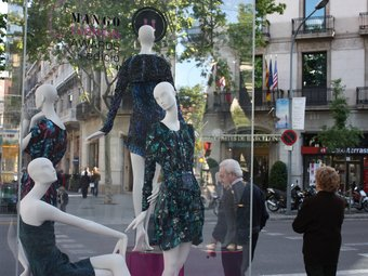 Foto d'uns maniquís del II Boton Mango Fashion Awards, a Barcelona.  ARXIU / L.A. VILLALBA