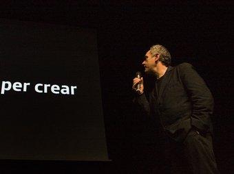 Ferran Adrià, durant la presentació del seu projecte Bulli Foundation.  LLUÍS SERRAT