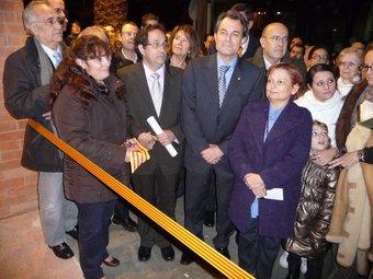 Antonio Manzanares i Artur Mas avui abans de tallar la cinta inaugural de la seu de FADAM. C.A.F