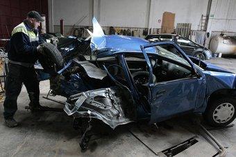 El cotxe on viatjaven els dos nois de Vidreres que van morir LLUÍS SERRAT