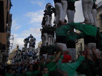Els Castellers del Riberal a la trobada de Valls. H.P