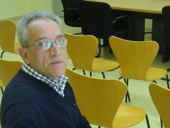 Narcís Masanas, a la sala d'actes de l'Ajuntament.  R. E