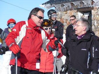 Artur Mas durant la gravació del programa.  TVC