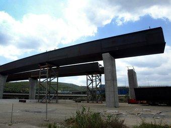 El pont de Castellbisbal que va quedar paralitzat al mes de juliol JUANMA RAMOS