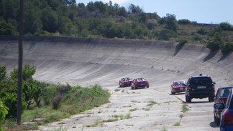 Imatge de l'autòdrom de Sitges, el tercer circuit automobilístic de competició europeu.  ARXIU