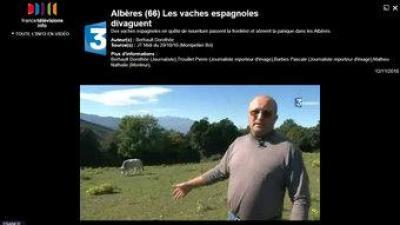 El ramader rossellonès, François Tubert, en un reportatge del canal France 3. EL PUNT