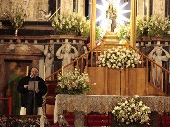 Anna M. Camprubí , abadessa de Vallbona de les Monges, va predicar en la novena d'ahir, i era la primera vegada que ho feia una religiosa JOSÉ CARLOS LEÓN