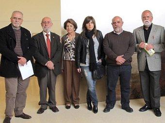 Jurat d'Art Nostre III entre els que es trobava Josep Albert Mestre, primer a l'esquerra. B.SILVESTRE