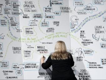 Sessió de pluja d'idees a la cloenda del darrer Fòrum de Davos.  ARXIU