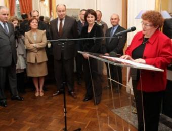 L'acte de despedida d'Alice Coste en el seu precedent lloc de treball, a la prefectura de Tarn i Garona. DEPECHE DU MIDI M.M