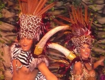 El rei i la reina del carnaval de Palamós. A.V