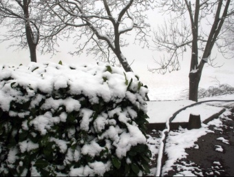 La neu emblanquina algunes zones baixes de Catalunya ARXIU