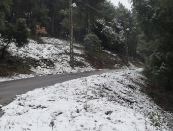 A Matadepera la neu va agafar, per exemple, a la zona de Cavall Bernat. M.À. LUQUE