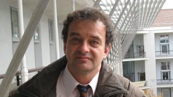 L'escriptor Alfred Bosch , a la facultat d'Humanitats de la Pompeu Fabra M.F