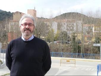 Eduard Turon fotografiat a Sant Iscle de Vallalta. T.M