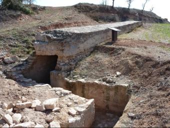 Una de les trinxeres que es poden visitar a Vallbona de les Monges. Fa 25 metres i és coberta. E. P.
