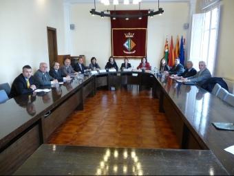 Les tres alcaldesses van presidir ahir el consell plenari del CIT celebrat a Cerdanyola. C.A.F