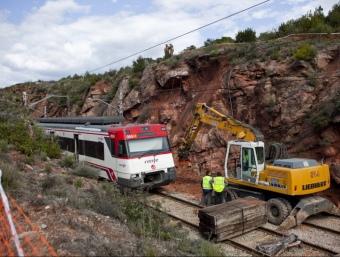 Tram afectat per l'esllavissada. ROBERT RAMOS