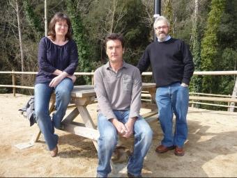 D'esquerra a dreta, Núria Sans (CiU), Pere Guixens (ERC) i Eduard Turón (PSC) T.M: